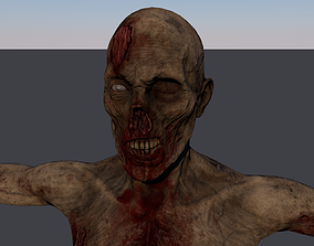 3D asset animated game-ready zombie
