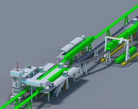 Maglev train station Low-Poly 3D asset