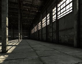 Old warehouse industrial interior 3D