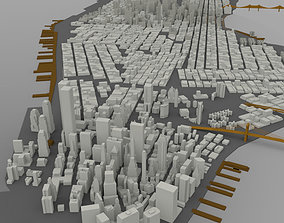 3D model Manhattan Island Cityscape