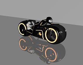 Orange Moto bike 3D print model