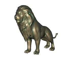 Lion Statue east 3D print model