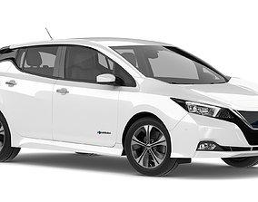 3D model 2018 Nissan Leaf White