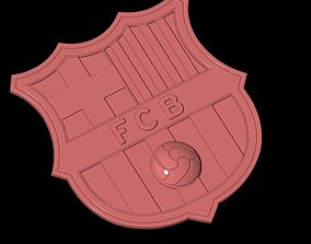 Spain Bacelona Football 3D logo