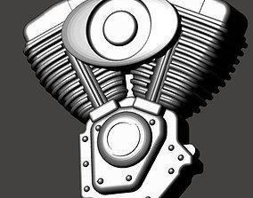 3D print model Pendant Biker - Harley Davidson style
