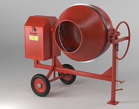 3D model Cement Mixer Dirty and Clean