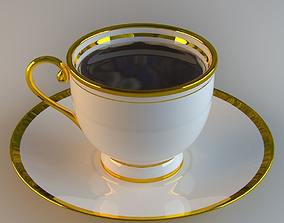 3D model low-poly coffee cup