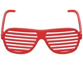 Shutter Glasses Red 3D model