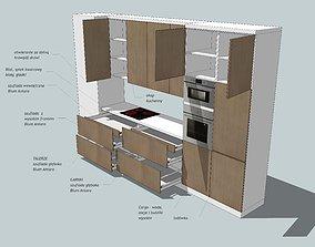 Kitchen 3D model architectural