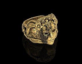 antique The Masked Angel Ring 3D printable model