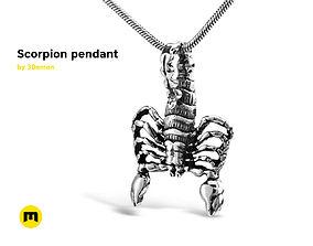 3D printable model gold Scorpion pendant