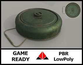 Landmine 3D asset game-ready