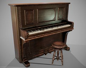 3D asset PBR Old Piano