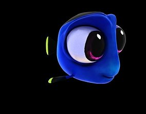 Dory Rigged 3D model