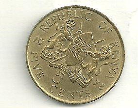 3D model Texture set of 16 coin types of Kenya