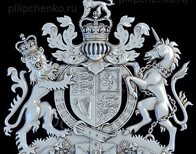 Coat of arms of the United Kingdom 3D print model