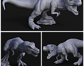 Tyrannosaurus rex pack for 3D printing
