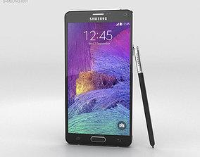 black 3D model Samsung Galaxy Note 4 Charcoal Black