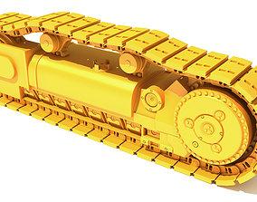 Excavator Track bulldozer 3D