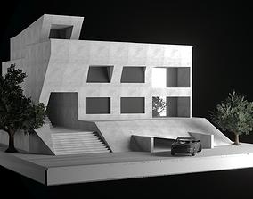 Modern Villa 3D model realtime