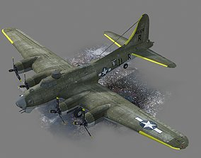WWII USA Army B-17G Flying Fortress Bomber 3D asset