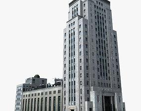 3D European Building architectural