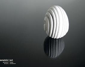 3D printable model generative easter egg by parametric art