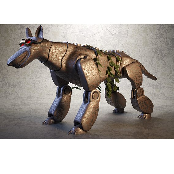 Robo-Dog Steampunk Style