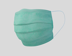 3D asset low-poly Surgical mask