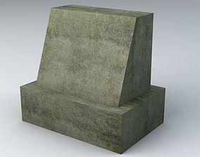 Gravestone 5 Low Poly 3D asset