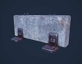 obstacle 3D asset Concrete Barrier