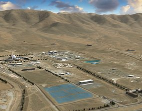 Arak Nuclear Reactor Iran 3D model