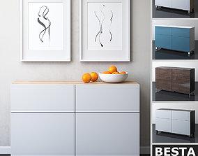 IKEA BESTA Storage combination with doors and 3D model