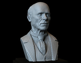 Ed Harris realistic bust 3D printable model