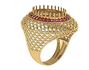 3D printable model jaali ring good looking