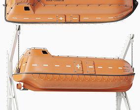 3D model Freefall Lifeboat