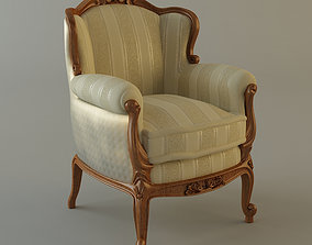 Antique Armchair ornate 3D model