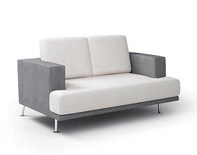Modern Gray Sofa 3D