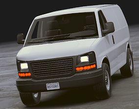 Realistic Van 3D asset