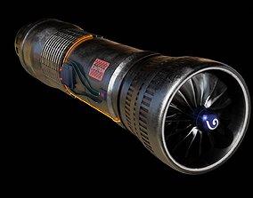 Turbine 3D model animated