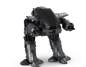 ED 209 Droid 3D model game-ready
