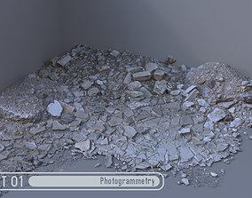 Rubble Pile Set 01 3D asset