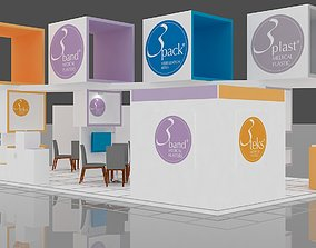 Exhibition Stall Size 12 m x 7 m Height 500 cm 3D