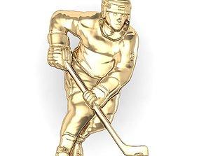 cnc 3D printable model hockey player
