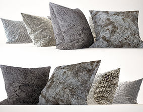 Pillow Collection 02 Fur and Wool 3D model