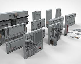 sci-fi Architecture kitbash 8 3D model