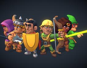 3D model fantasy DnD Heroes Set - Proto Series