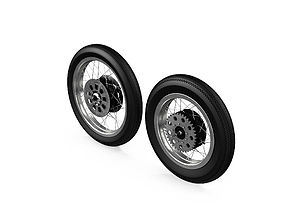 Motorcycle Wheels 3D