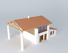 extention countryside dwelling house 3D