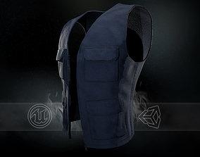 3D asset Blue Vest